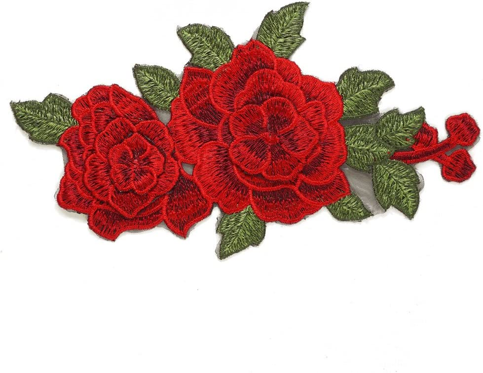 1PC~FLOWER~IRON ON EMBROIDERED SCRAPBOOKING  APPLIQUE
