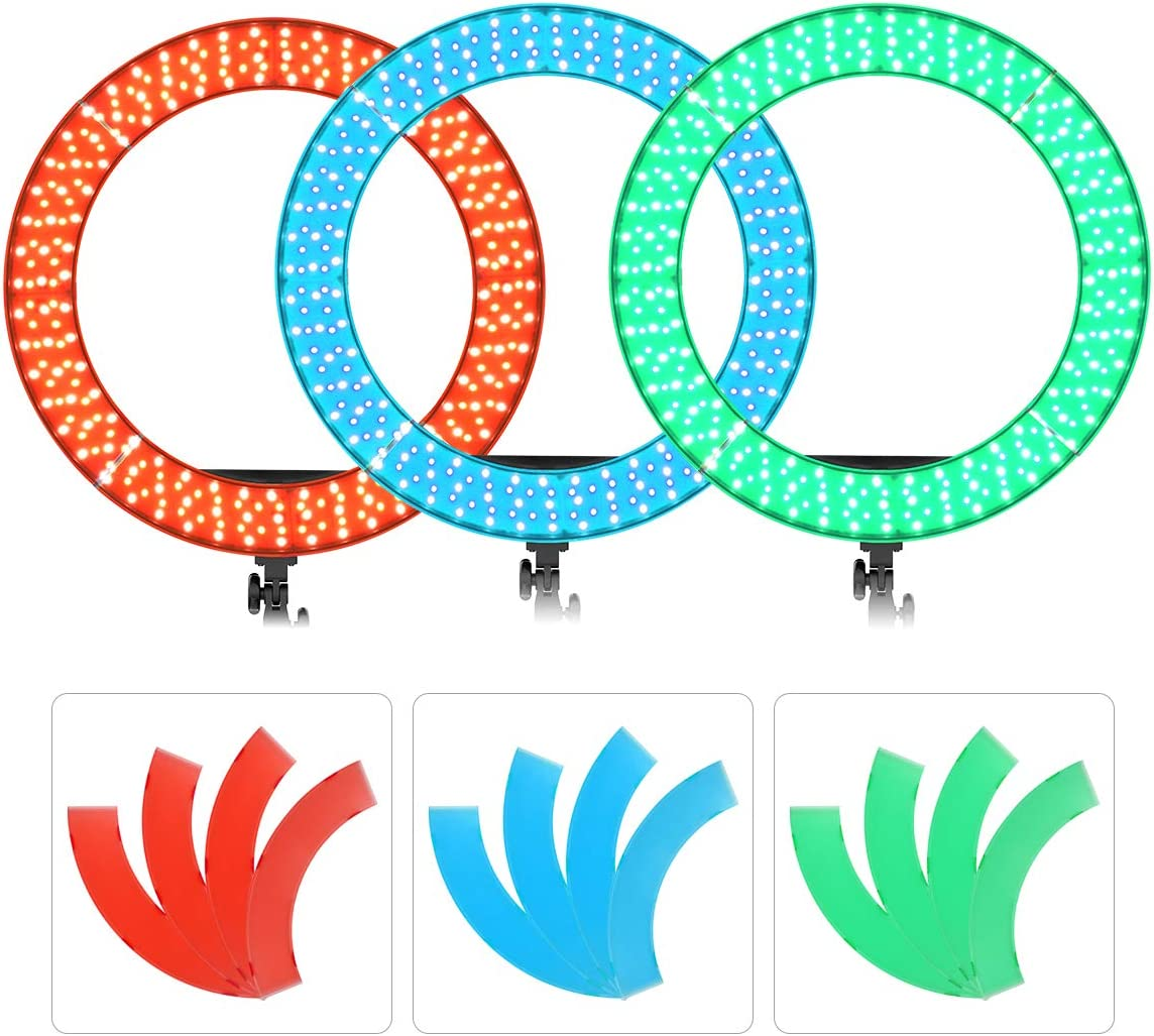 Blue/Red/Green Color Filters Set for 19 inches/48.5 Centimeters IVISII SWITTI Ring Light