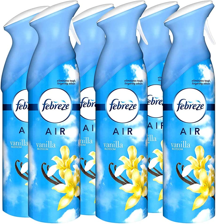Febreze Air Freshener Spray, Vanilla Blossom, 300 ml (Pack Of 6)