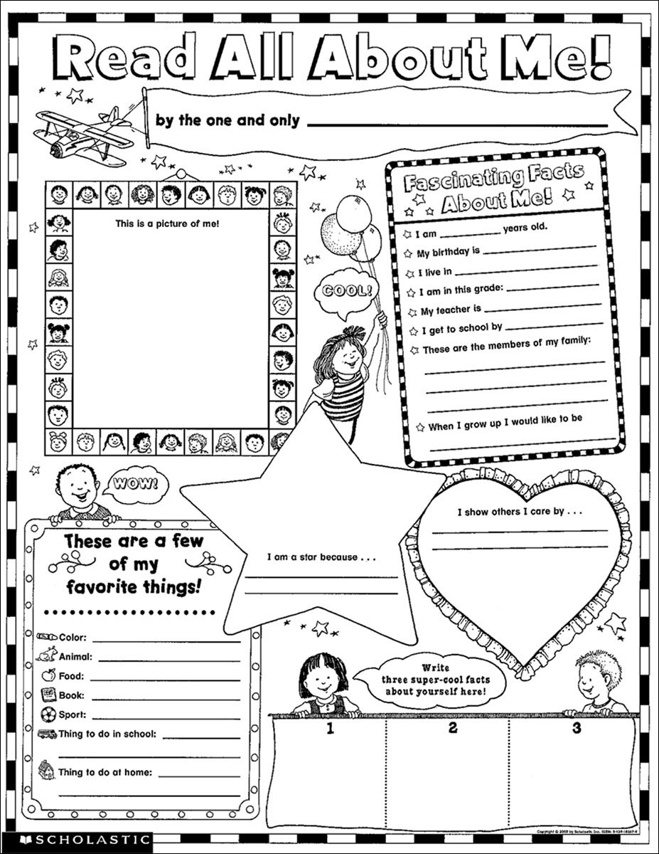 Instant Personal Poster Sets: Read All About Me: 30 Big Write-and-Read Learning Posters Ready for Kids to Personalize and Display With Pride!