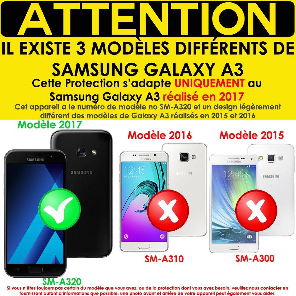 [unidades 3] Techgear® Samsung Galaxy A3 2017 (sm-a320 serie) [ghostshield Edition] Genuine reforzado TPU protector de pantalla Guardia Covers con pantalla ...