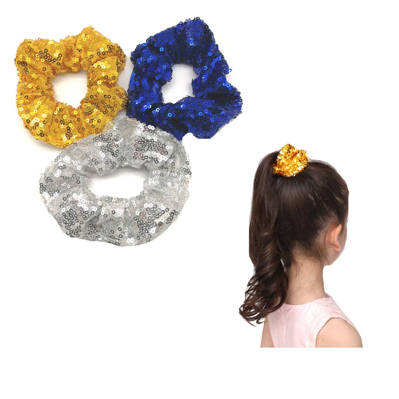 yellow small ELASTIC girl hair Scrunchie braid tie girl Balls Ponytail Holder