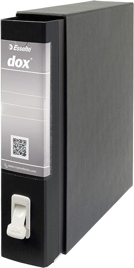 Leitz D26210 - Archivador de Palanca DOX con Caja Folio (28,5X35 cm) Color Negro: Amazon.es: Oficina y papelería