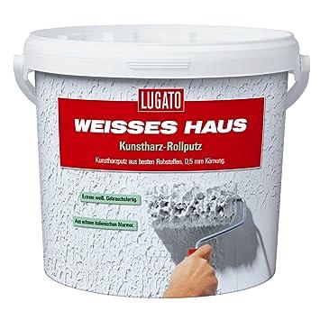 Lugato Weisses Haus Kunstharz Rollputz Kornung 0 5 Mm 8 Kg Amazon