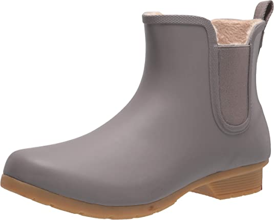 Chooka Women's Bainbridge Fleece Lined Chelsea Bootie Rain Boot