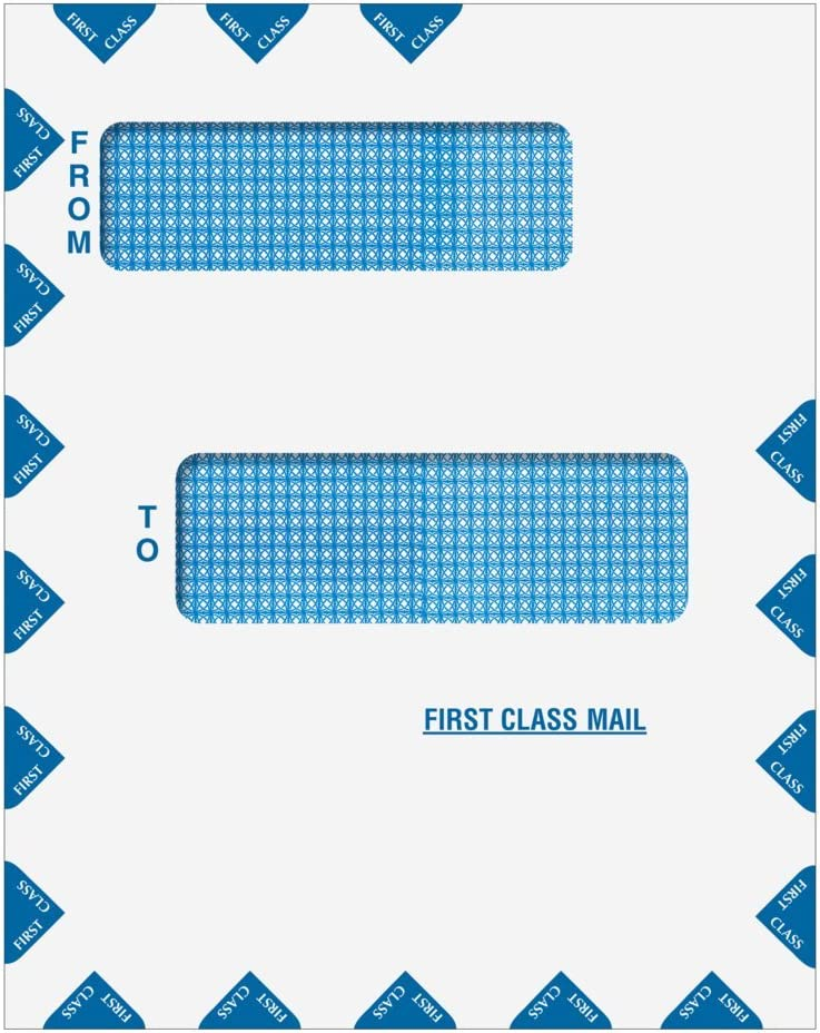 """Offset Double Window First Class Mail Envelope 9 1//2/"""" x 12/"""" Peel /& Seal"""