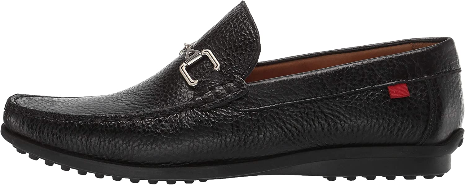 MARC JOSEPH NEW YORK Mens Leather Carneige Hill Buckle Loafer 13 M US Black Grainy