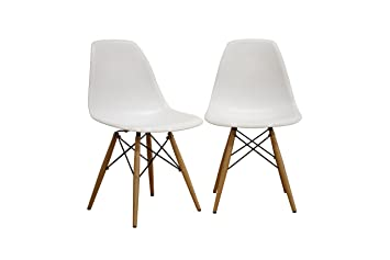 Awesome Amazon.com: Baxton Studio LAC Plastic Side Chair Set Of 2: Kitchen U0026 Dining