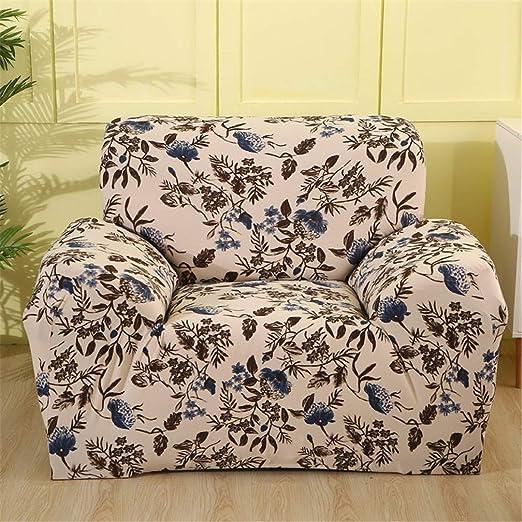AGRJESFD - Funda de sofá elástica de algodón con patrón de ...