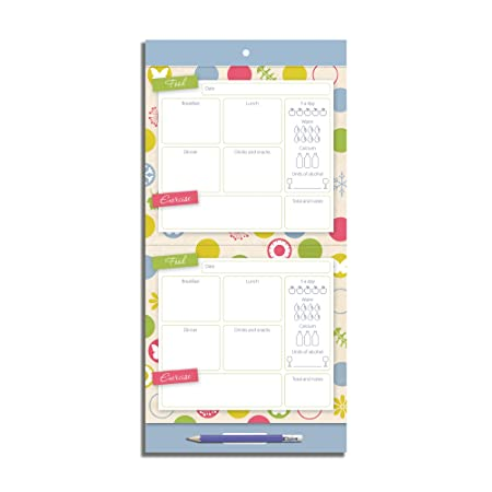 organised mum healthy life jotter food exercise planner