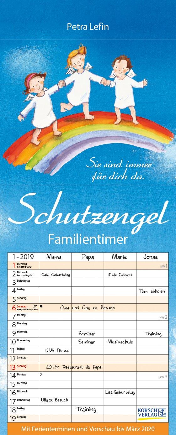 Familientimer Schutzengel 2019 Familienplaner 4 Große Spalten Mit