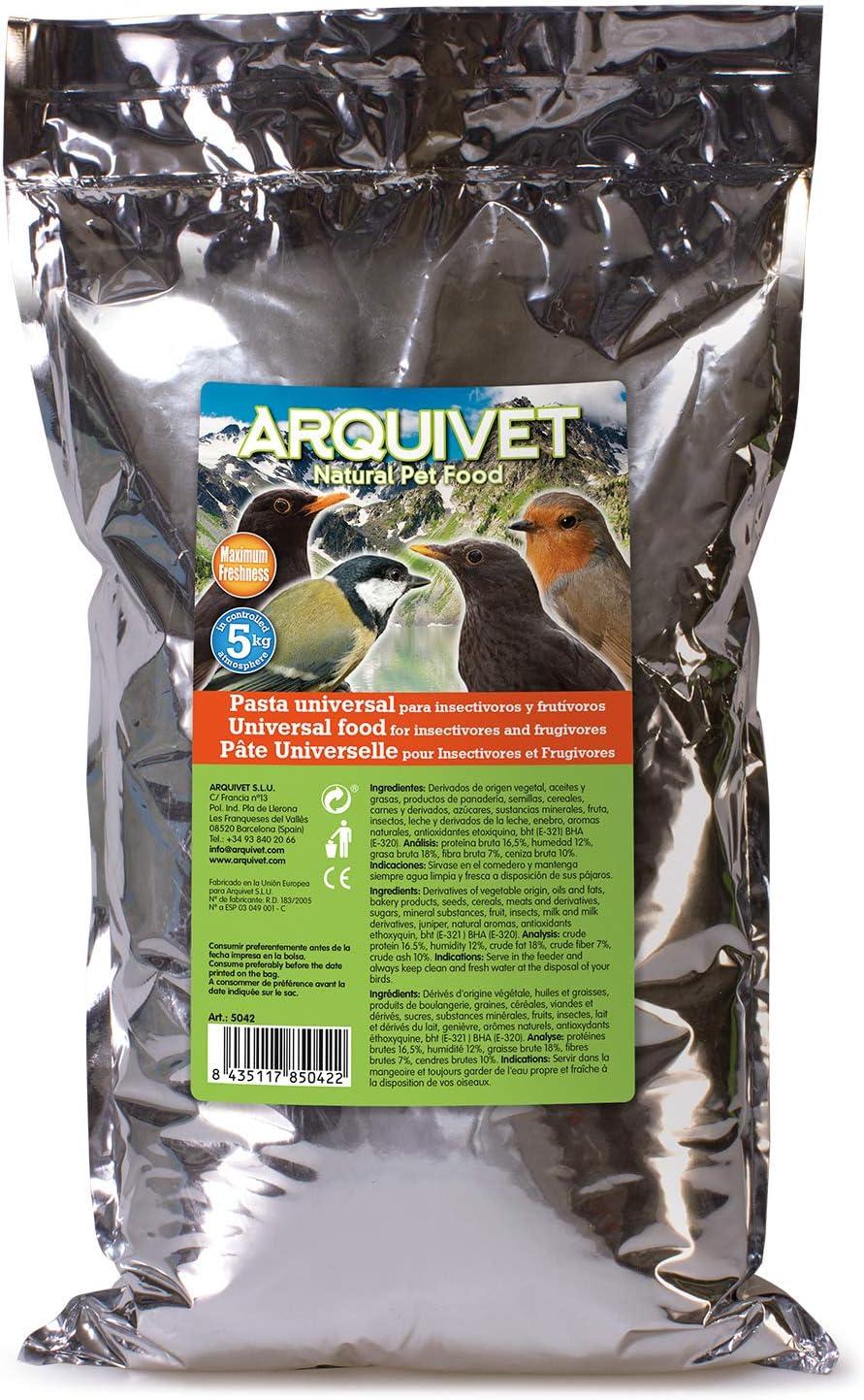 Arquivet Pasta Universal para insectívoros y frutívoros 5 kg - 5000 gr