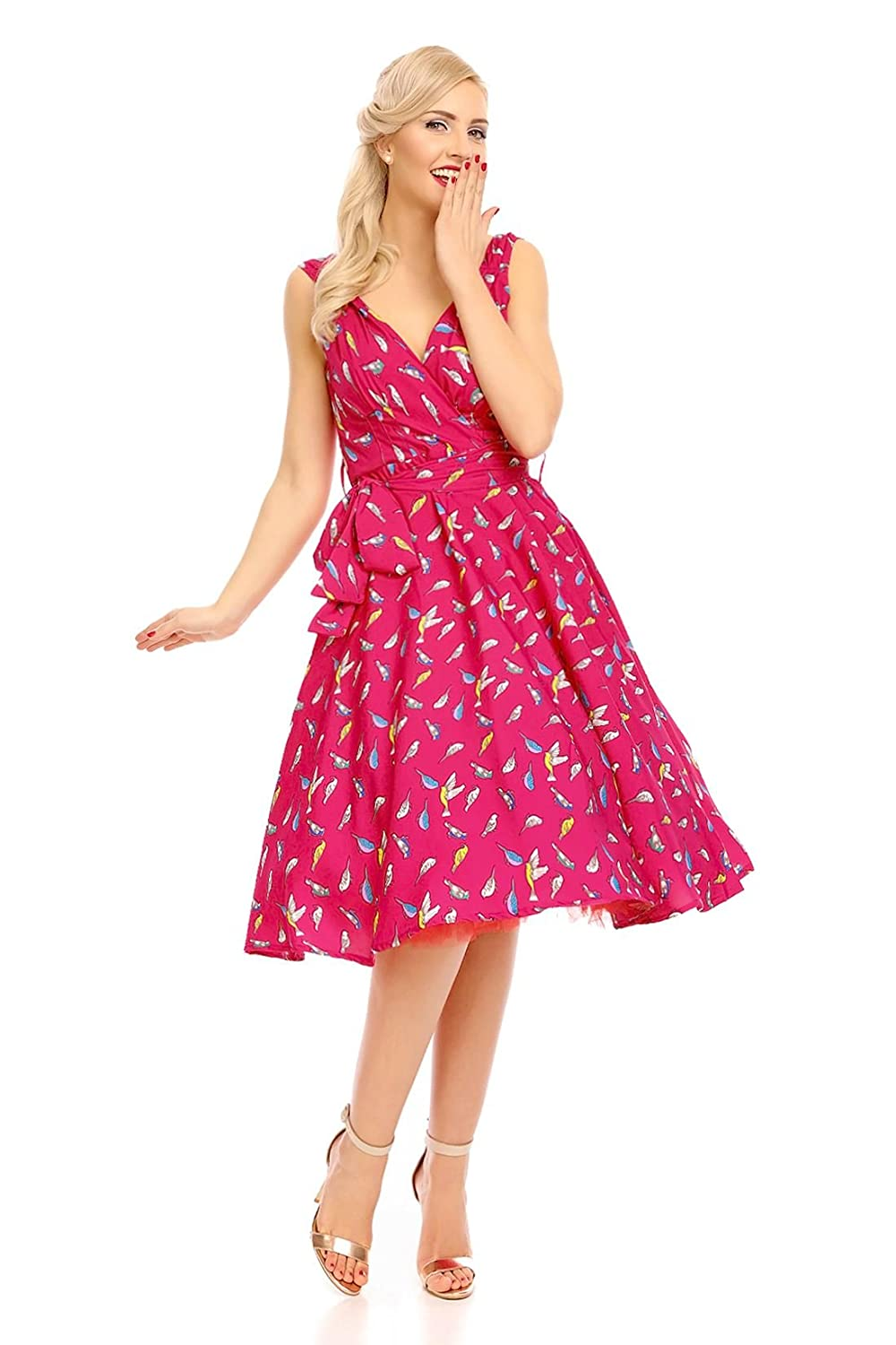 Looking Glam Retro Vintage 1950s PIN-UP Fiesta Vestido Con Vuelo ...
