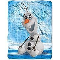 """Disney's Frozen, """"Chills and Thrills"""" Micro Raschel Throw Blanket, 46"""" x 60"""", Multi Color"""