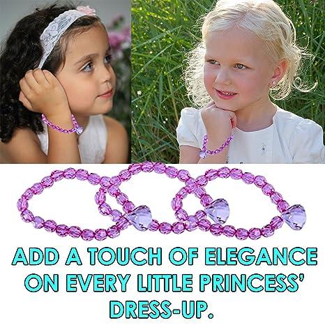 Dazzling Toys Valentines Day Princess Beaded Stretch Bracelets Pack of 12 Beauty & Fashion