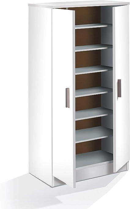 Habitdesign 007813O - Zapatero Armario Basic, Mueble Auxiliar Acabado en Color Blanco, Medidas: 108 x 55 x 36 cm de Fondo