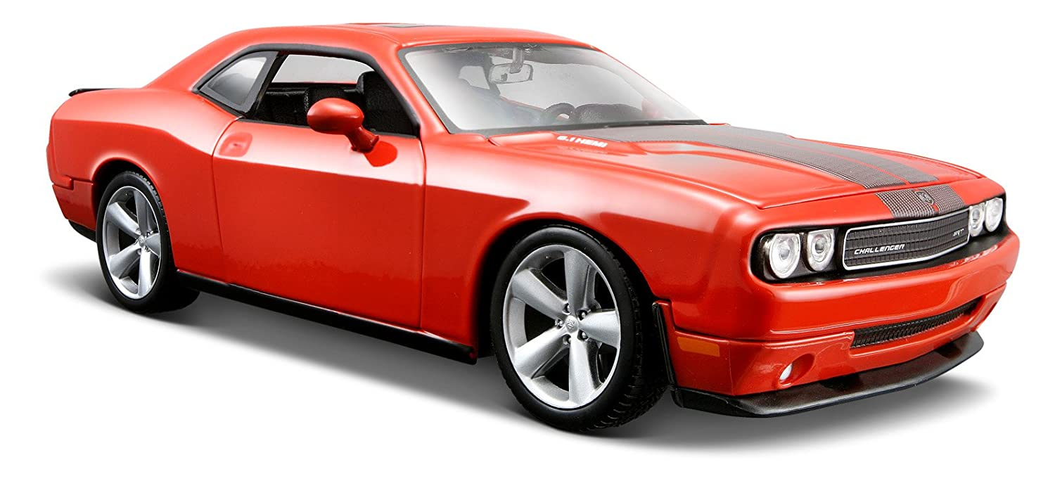 Maisto 1 24 Scale Orange 2008 Dodge Challenger SRT8 Diecast Vehicle