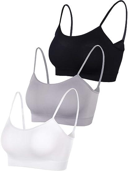 fa8fbecf93d14 Blulu Mini Bra Camisole Spaghetti Strap Bra Half Tank Tops for Women Girls  Favor Daily Wearing