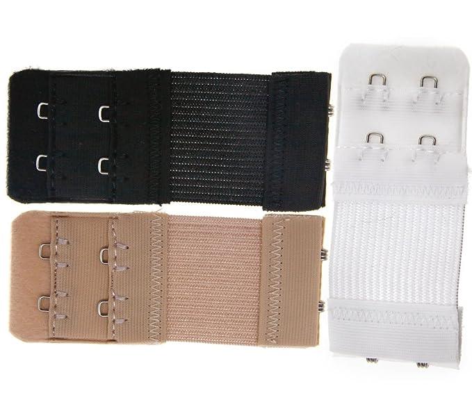 Juego de 3 alargadores de sujetador. 2 ganchos para ropa Interior. Ampliación, negro: Amazon.es: Bricolaje y herramientas