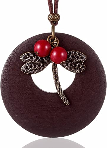 Ideal gift Pink Multi Strand Statement Necklace Choker Necklace Pink Jewellery Multi Strand Necklace Wooden Statement Pendant