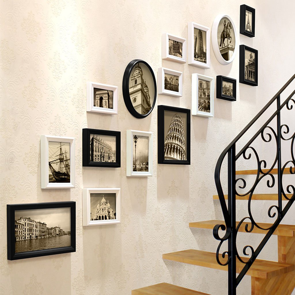 Amazon Com Home Wall Photo Frame Stairs Decorative Paintings Photo