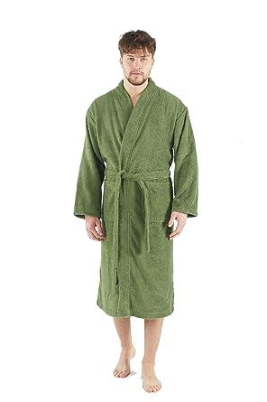 Bagno Milano Mens Terry Robe – 100% Pure Turkish Cotton – Kimono Style  Bathrobe 34fc92e2c