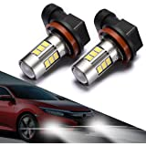 SEALIGHT H11/H8 LED Fog Lights Bulbs, Upgrade H16 LED Lamps DOT Approved, Cool Xenon White 6000K, 1 Yr Warranty (Pack of 2)