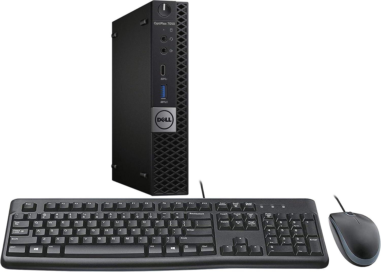 Dell Optiplex 7050 Micro Desktop, Intel i3, 16GB RAM, 256GB SSD, WiFi, Keyboard and Mouse, Windows 10 Pro (Renewed)