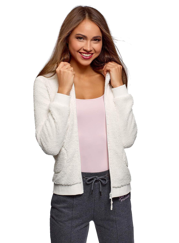 oodji Ultra Womens Hooded Lounge Fleece Sweatshirt RIFICZECH s.r.o. 59811006-1