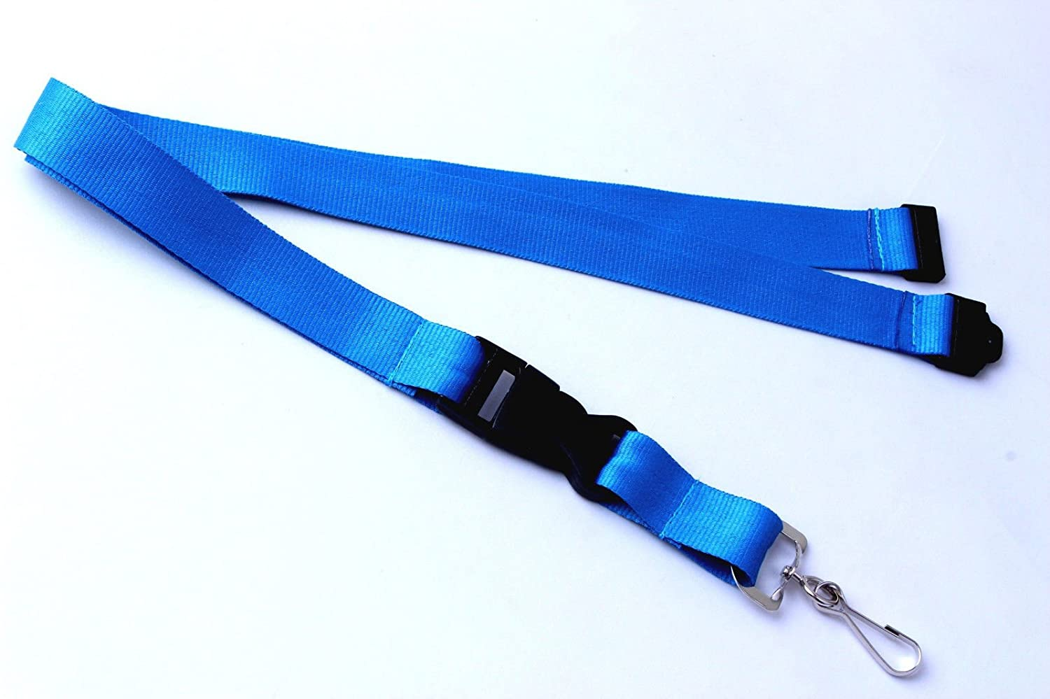 Polyester Strap Solid Color Breakaway Lanyard Id Badge Flat Mobile Cell Phone Key Holder