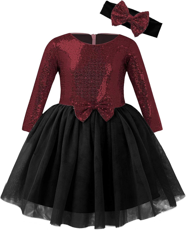 iixpin Babybekleidung Baby-M/ädchen Prinzessin Kleid Festzug Taufkleid Hochzeit Partykleid M/ädchen T/üll Kleidung Blumenm/ädchenkleid mit Baumwollhose