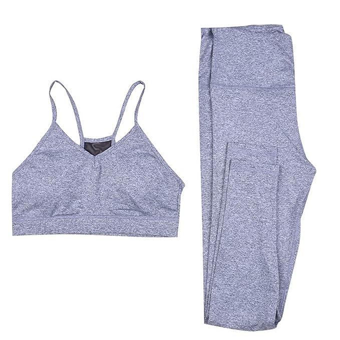 Amazon.com: Thenxin - Conjunto básico de yoga para mujer, 2 ...