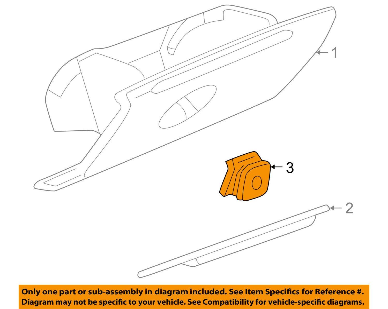 97-05 Buick Regal & Century Glove Box Door Latch Handle Tan Neutral GM 10281138