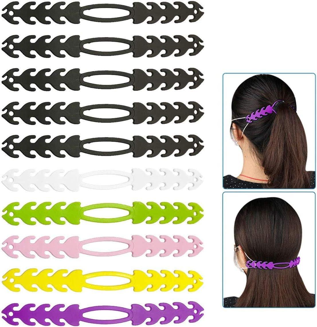 ajuste duradero protector de o/ído ajustable multicolor hebilla de extensi/ón para ni/ños y adultos 12 piezas LZYMSZ antiapriete de la oreja Extensor de correa de silicona para la cara