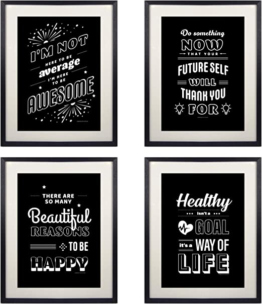 Motivational inspirational quote positive life poster picture print wall art 393