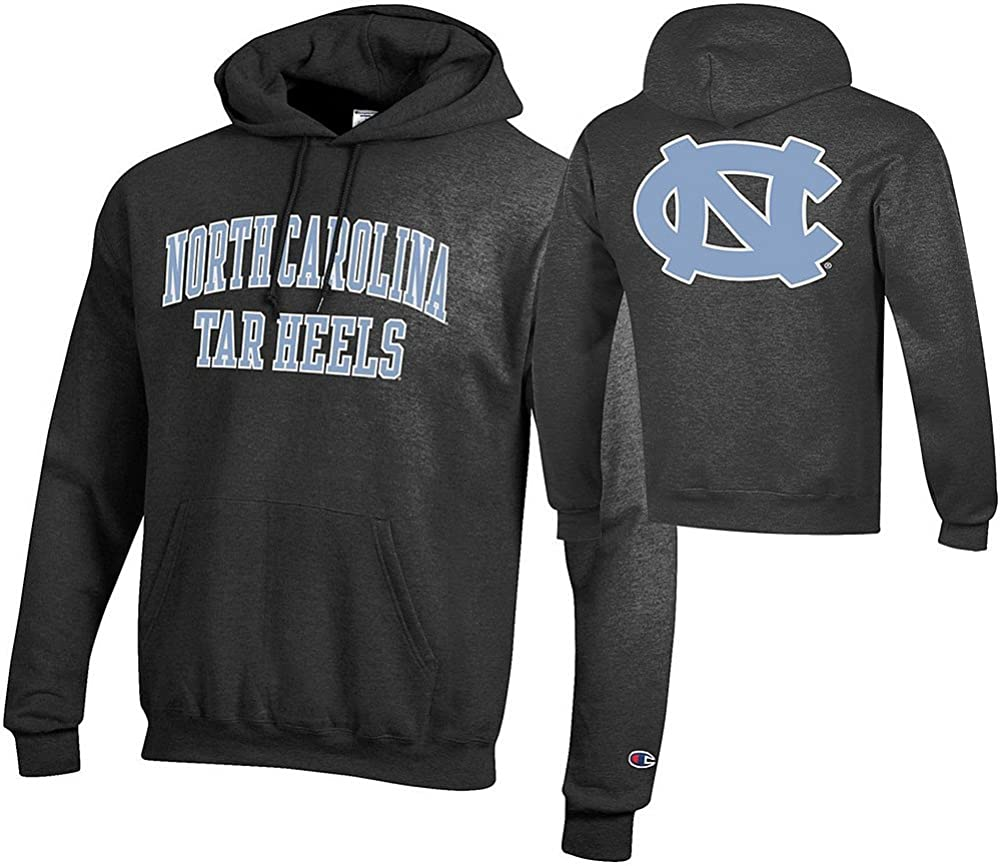 Elite Fan Shop NCAA Men's Front/Back Dark Heather Hoodie Sweatshirt