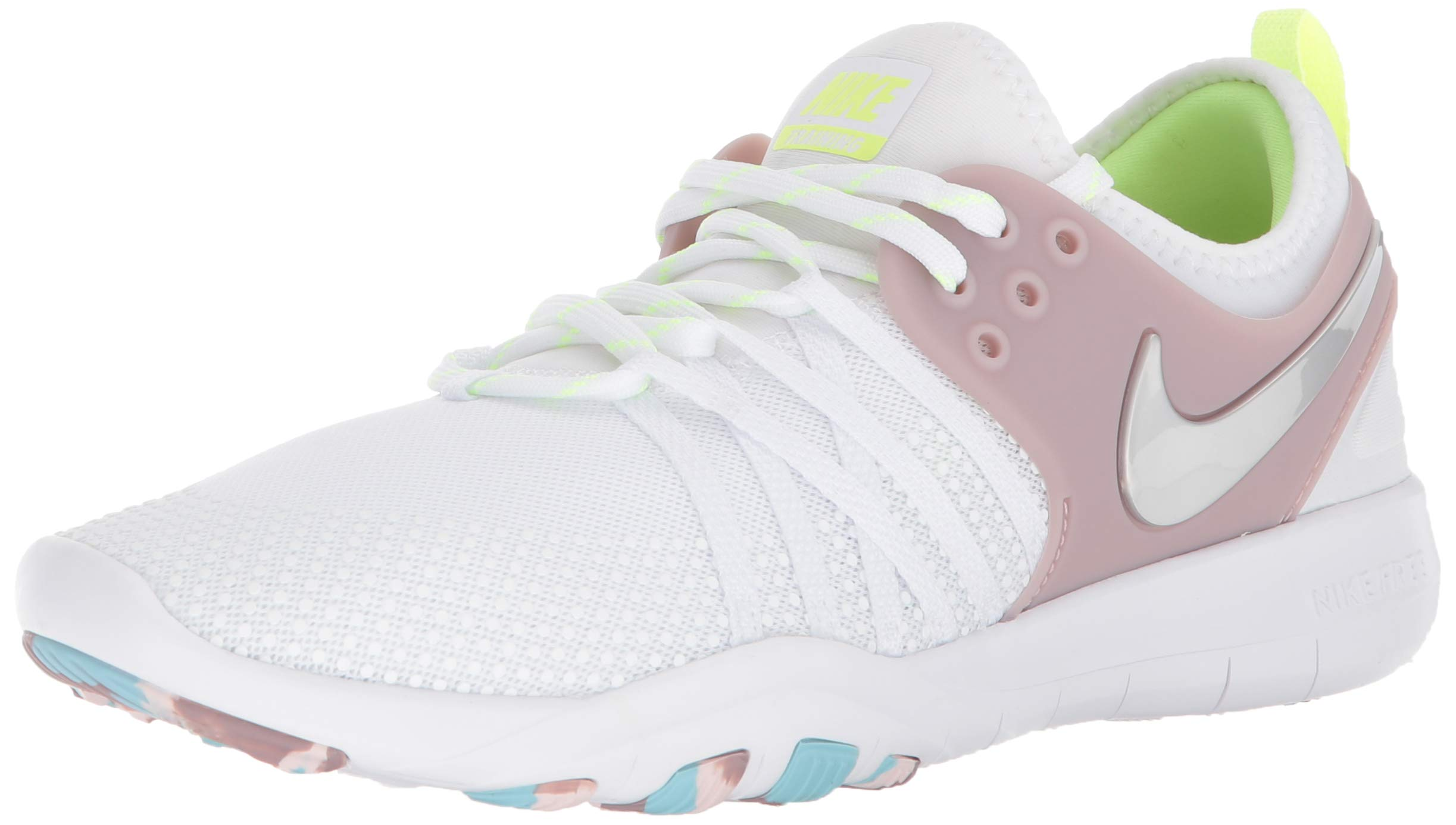 newest c7710 10fa3 Nike Women's WMNS Free Tr 7 Trainers, White (White/Elemental Rose/Volt  Glow/Metallic Silver 102) 10 M US