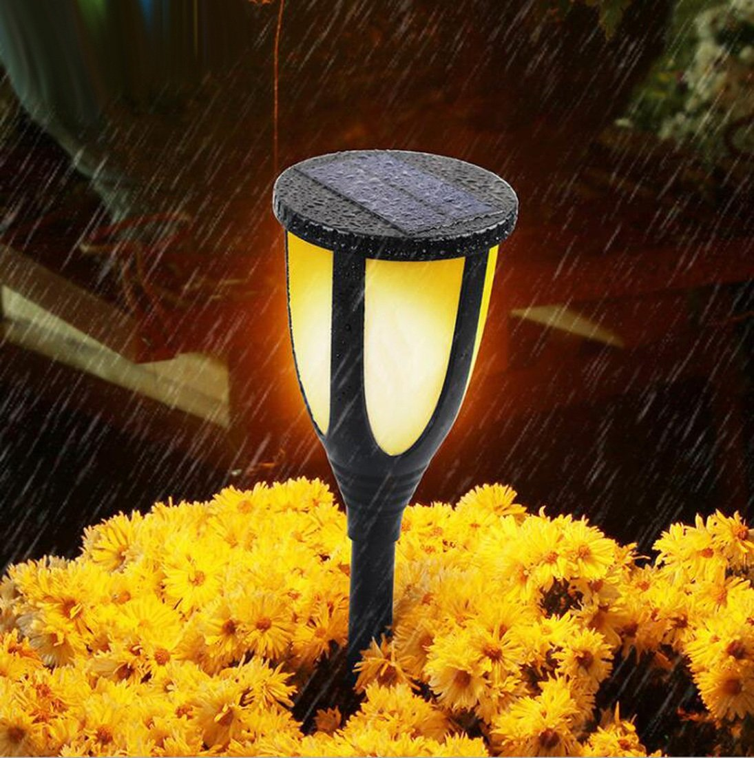 Solar Energy Lamp Led Outdoor Lawn plug in lights Waterproof Solar Courtyard Landscape Torch Lights Insertion Type Street Light Simulation Flame Lighting