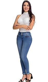 67073b78997c L.O.W.L.A SHAPEWEAR Lowla Women Butt Lifter Mid Rise Skinny Ripped Jeans