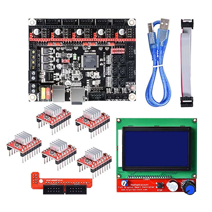 BouBou SKR V3 32-bit Smoothieboard Mainboard + 12864 LCD Display + ...
