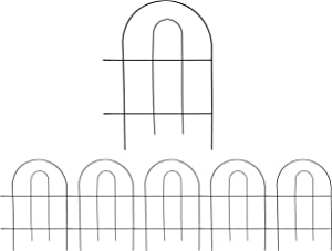 WOLUNWO Decorative Garden Fencing, 18 Inch x 13 Inch, Overall Length 65 Inch,Garden Barrier Portable Decorative Flower Fence, Outdoor Fences Border Fence Decorative Metal Garden Fencing