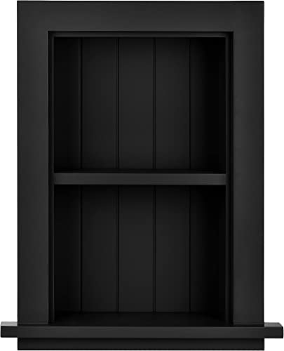 AdirHome Recessed Wall Mount Storage Cabinet Sturdy Fully Assembled Wooden Utility Storage Shelf Ideal