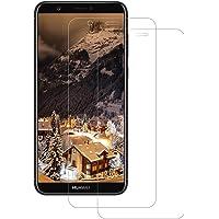 FayTun Pellicola Protettiva Vetro Temperato per Huawei P Smart 2018, Ultra Resistente Anti-Bolla Alta Definizione, 9H Durezza Anti-Graffio Screen Protector per Huawei P Smart 2018[2-Pezzi]