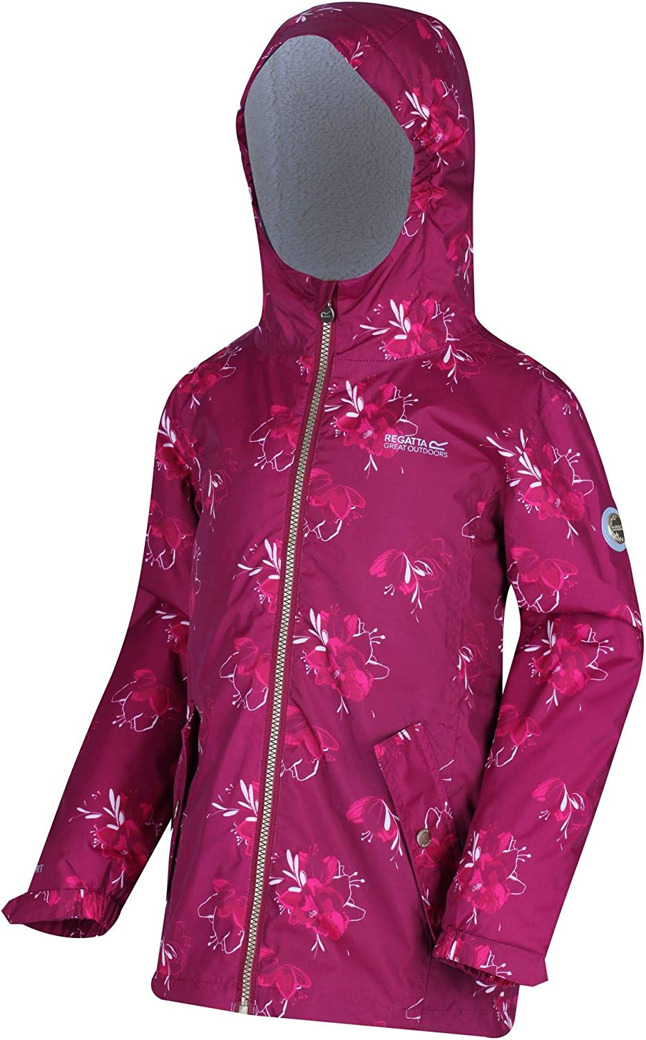 Regatta Childrens Braylee Waterproof Reflective Hooded Jacket Insulated