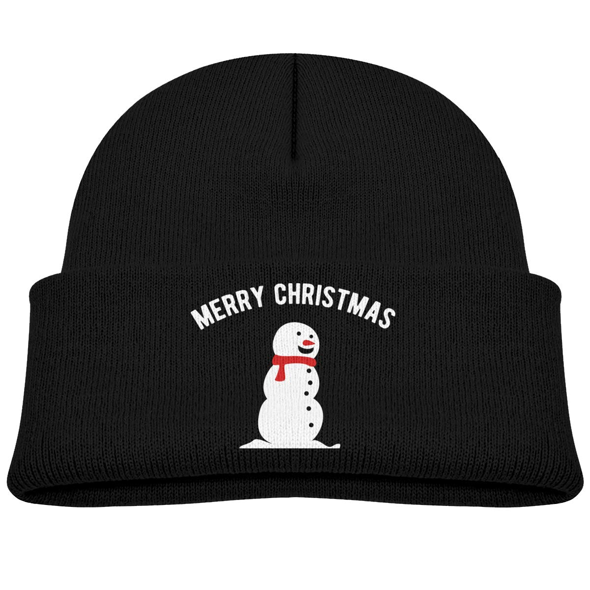 Snowman Merry Christmas Infant Skull Hats Unisex Beanie Caps