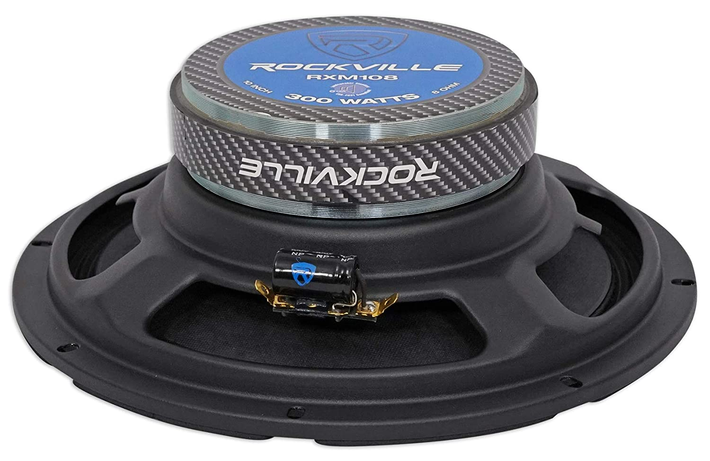 Rockville RXM84 8 250w 4 Ohm Mid-Bass Driver Car Audio Speaker Mid-Range Audiosavings