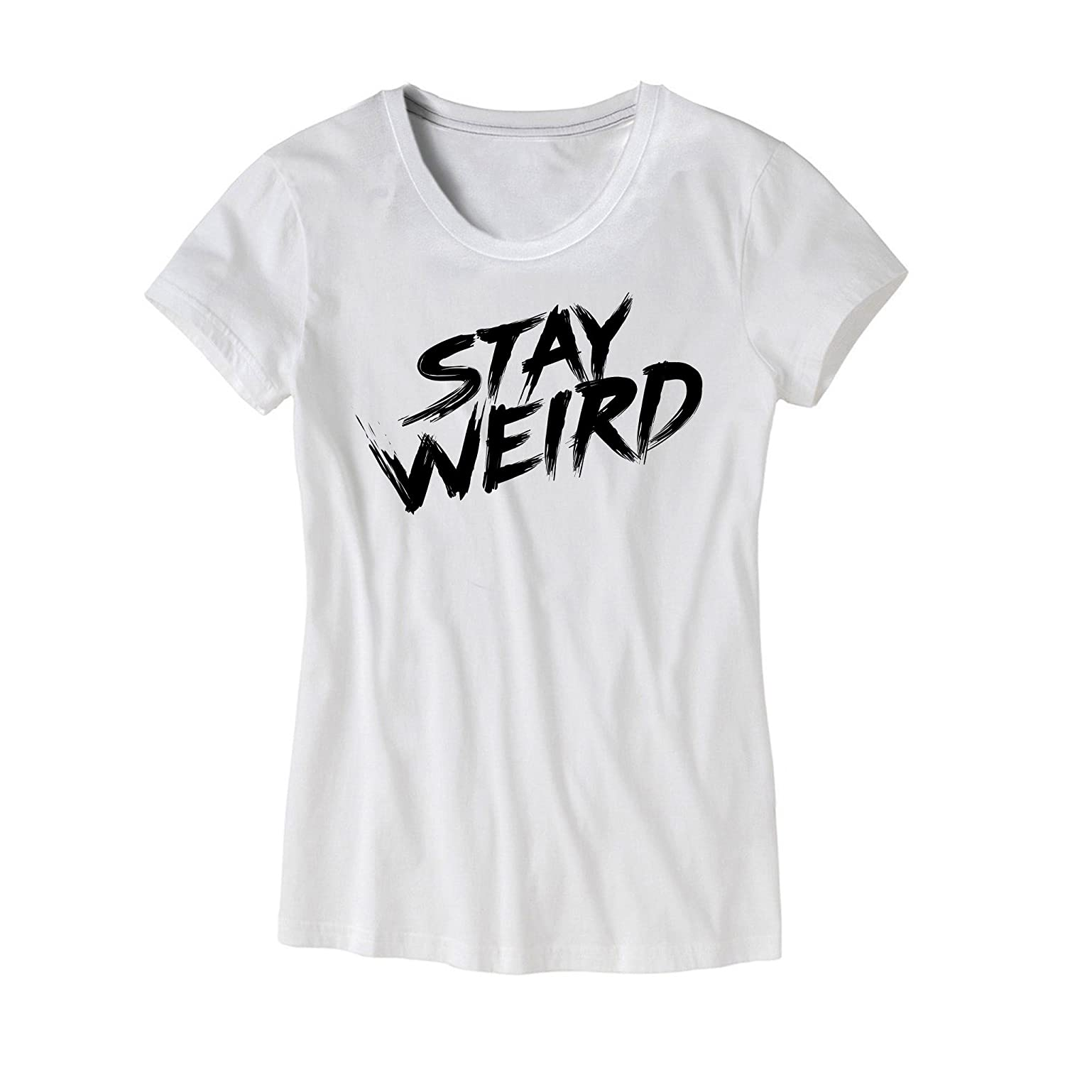 5ad659477878fc Funny Stay Weird Shirt Womens Stay Weird Girls Hipster T-Shirt Authentic HG  Apparel Brand Ladies Music Festival Party Tee - Proudly Printed in the USA