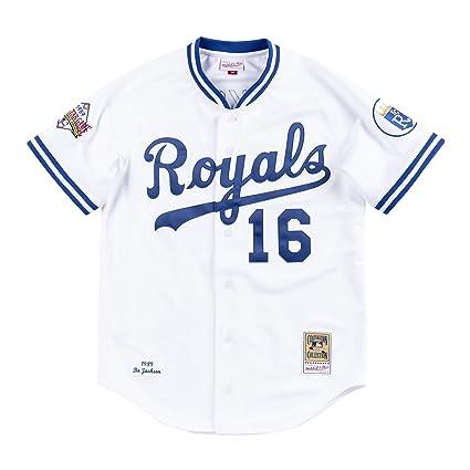 huge selection of 66345 767a5 Amazon.com : Mitchell & Ness Bo Jackson Kansas City Royals ...