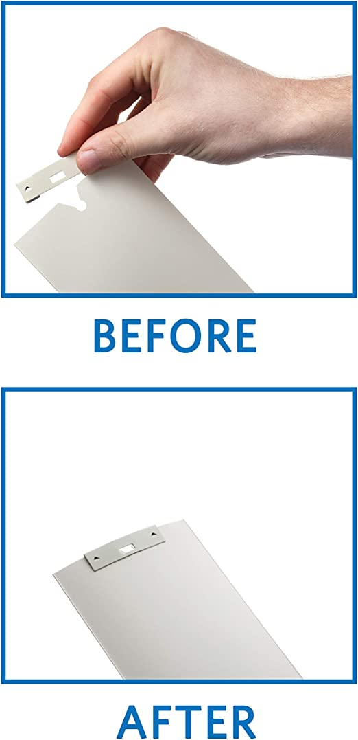 10 Pack Vertical Blind Vane Saver ~ White Curved Repair Clips ~ Fixes Broken