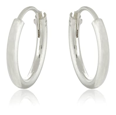 3fbccd622 Buy ELOISH Sterling Silver Small Multi-Purpose Hoop Earrings for Kids, Men  and Women Online at Low Prices in India | Amazon Jewellery Store - Amazon.in